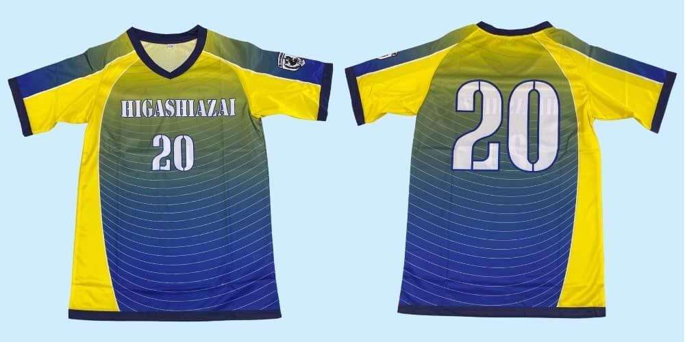 ドッジボールオリジナルチームユニフォーム「HIGASHIAZAI様」