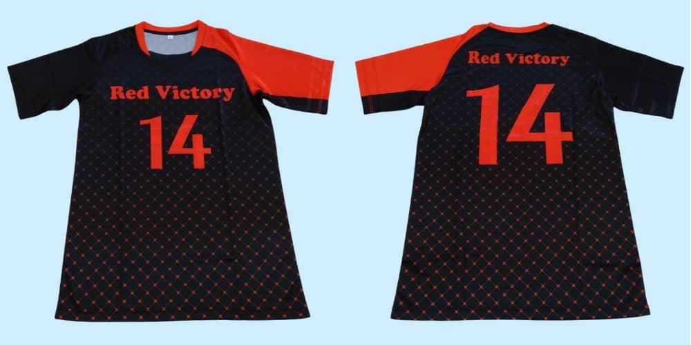 ドッジボールオリジナルチームユニフォーム「Red Victory様」